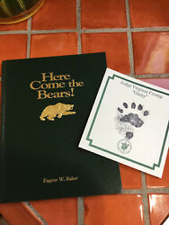 1st Edition Book Here Comes The Bears Mascot Baylor University Waco, Tx Sticker
