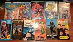 Lot Of 11 Vhs Tapes Disney, Power Rangers, Toy Story, Barney, Thomas, Rescuers