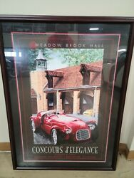 1997 Meadow Brook Hall Concours Poster Ferrari 159s Dennis Hoyt Signed