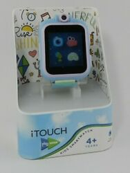 Itouch Kidand039s Playzoom Green Holographic Resin Strap Smart Watch 52mm