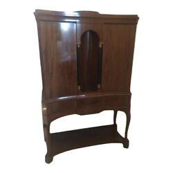 Antique Mahogany French Cabinet Cupboard.
