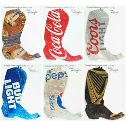 Cowboy Boot Christmas Ornament Handmade With A Recycled Aluminum Can You Choose