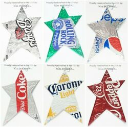 Star Christmas Ornament Handmade With A Recycled Aluminum Can You Choose
