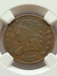 1828 1/2c Classic Head Half Cent Ngc Vf Details Damaged Us Coin A64