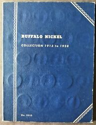 Us Buffalo Nickel 5 Ct 1913-1938 Partial Collection Set Of 50 Coins In Folder