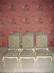 Ethan Allen Set Of 6 Upholstered Legacy Brittany White Dining Side Chairs 7059