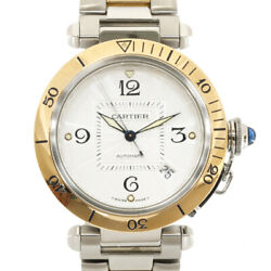 Watches Silver Stainless Steel K18 Gold Combination Pasha 38mm Used