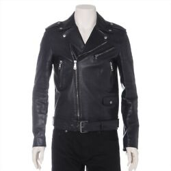 16 Years Leather Leather Jacket 44 Men's Black