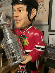 Toews 3ft Hockey Bobblehead With Stanley Cup
