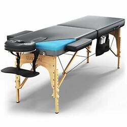 Luxton Home Premium Memory Foam Massage Table - Easy Set Up Foldable And Portable