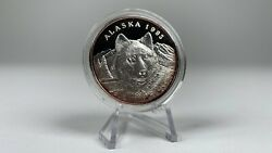 Alaska Mint Official 1993 State Medallion Wolf .999 Silver Coin Great Seal Mint