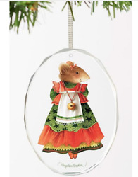 Marjolein Bastin New Glass Ornament With Vera The Mouse - Christmas Finery