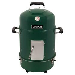 Dyna-glo Compact Charcoal Smoker Vertical 2 Racks Heat Thermometer Gloss Green