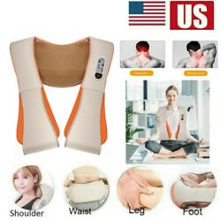 Electric Neck Shoulder Back Cervical Massage Shawl Heated Beat Pain Relief