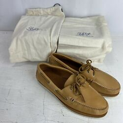 Sperry Gold Cup Boat Shoe, Natural, Handmade In Maine By Rancourt Men Sz 12 375