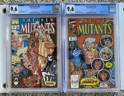 New Mutants 87 And 98 Set Cgc 9.6 - 1st Deadpool + 1st Cable Wp
