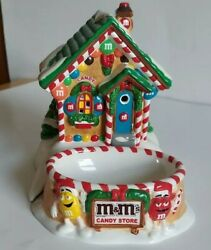 Dept 56 M And M Christmas Candy Store Lighted Store W/ Candy Dish