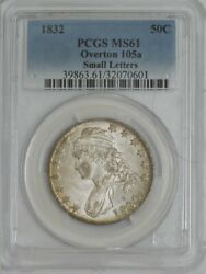 1832 Capped Bust Half 50c Small Letters O-105a Ms61 Pcgs 944154-6