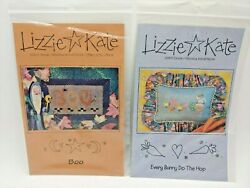2 Lizzie Kate Cross Stitch Pattern Boo Halloween Every Bunny Hop Charts Q1h $10.50