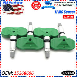 4x Oem Tire Pressure Sensor Tpms 15268606 For Gm Cadillac Cts Chevy Gmc 315mhz