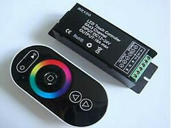 Led Rgb Controller With Wireless Rf Touch Remote To Adjust Colors 12vdc 216w
