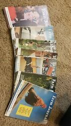 Vintage Lot Of 5 1955 Farm Journal Magazines And 2 Town Journal Magazines