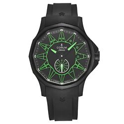 Corum Menand039s A395/04006 And039admiral Legendand039 Black/green Dial Rubber Strap Automatic