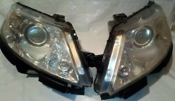 Lincoln Mks Headlights Head Light Pair Left And Right 2009 2010 2011 2012 Oem