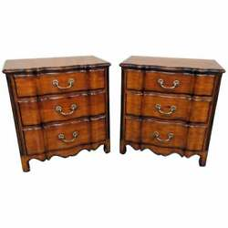 Pair Theodore Alexander French Chateau Du Vallois Commodes Night Stands Tables