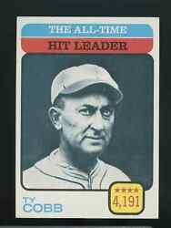 1973 Topps Ty Cobb All Time Hits Leader 471 - Hall Of Fame - Legend 4
