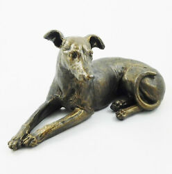 Laying Greyhound Figurine Statue Sculpture Dog Lying Whippet Ornament New In