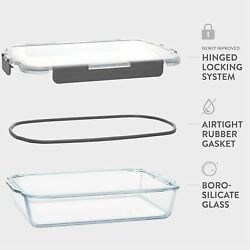 Superior Glass Casserole Dish With Lid - 2-piece Glass Bakeware And Glass Food