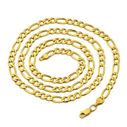 14k Yellow Gold 5.5mm Solid Figaro Chain Necklace Available In 16 To 30 Inches