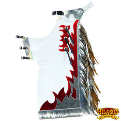 Western Youth Child Rodeo Bronc Bull Riding Show Genuine Leather Chaps U-506n