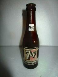 1950and039s Vintage 7 Up Brown Amber Bottle Philippines 7 Oz Long Neck Hard To Find