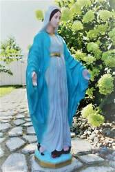 Our Lady Of Grace Outdoor Mary Garden Statue 32 Inch Indestructible Polyurethane