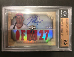 2013 Topps Triple Threads Mike Trout Patch Auto 1/99 Bgs 9.5/10