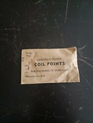 One Pair Genuine Coil Points For Model T Ford Cars