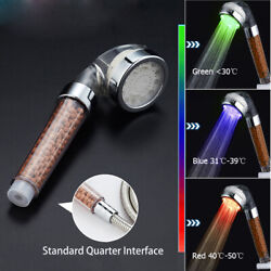 Handheld 3 Colors Changing Shower Head Home Bathroom Led Water Glow Light