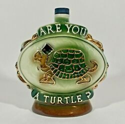 Vintage 1975 Jim Beam Whiskey Decanter - Are You A Turtle How Sweet It Is