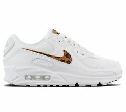 Nike Air Max 90 Ax Leopard W Womenand039s Sneaker White Dh4115-100 Casual Shoes New