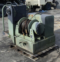 Military M916 A3 Truck 45k Lb Dp Hydraulic Drag Drum Winch And Tank 45000lb Pull