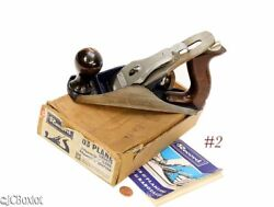 Lightly Used 03 Record Tools Smoother Carpenter Woodworking Plane W Box