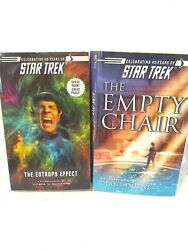1st Editions Star Trek The Empty Chair And The Entropy Effect Paperback Book Scif