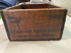 Small Western Ammunition Co. Lead Air Rifle Shot Wood Crate