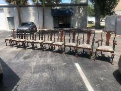 A Set Of Ten Queen Anne Style Mahogany Dining Chairs
