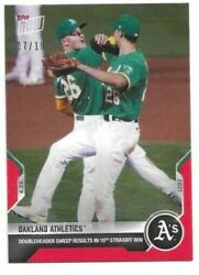 🛑 Oakland Athletics 2021 Topps Now Card 105 Red Parallel 07/10 🔥