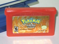 Pokemon Firered Version Game Boy Advance 2004 Gba Authentic + Carry Case