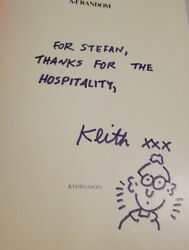 Keith Haring Drawing And Signature In Book - Eight Ball Book