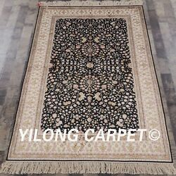 Yilong 4and039x6and039 Oriental Silk Handmade Area Rugs All Over Antistatic Carpet 880b